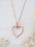 Glee Jewelry Truly Necklace Rose Gold