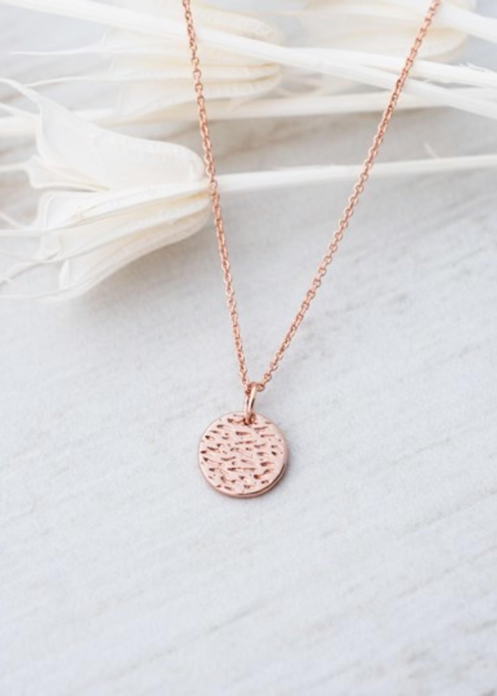 Glee Jewelry Dearest Necklace Rose Gold