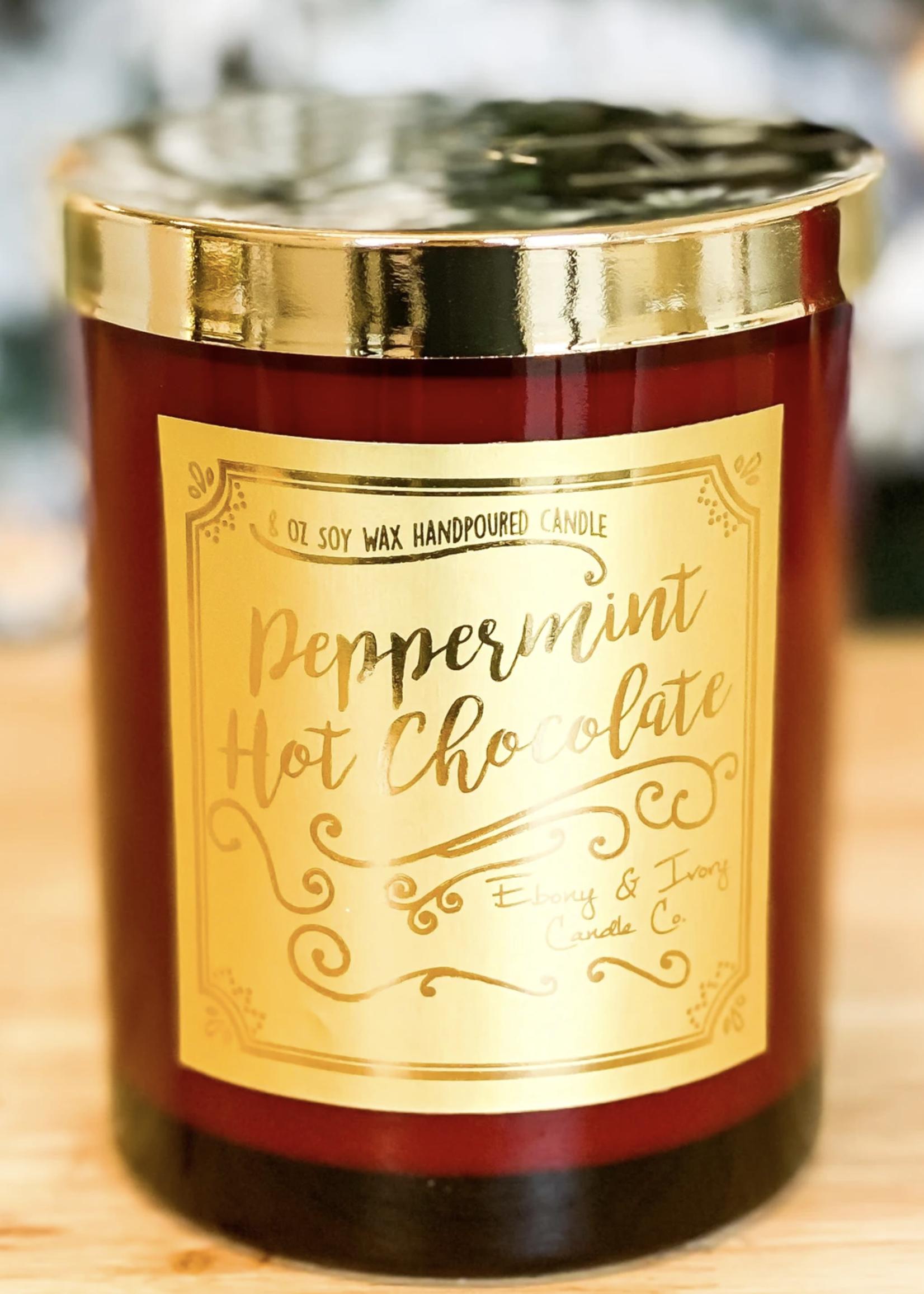 Ebony & Ivory Candle Co. Peppermint Hot Chocolate Candle 8oz