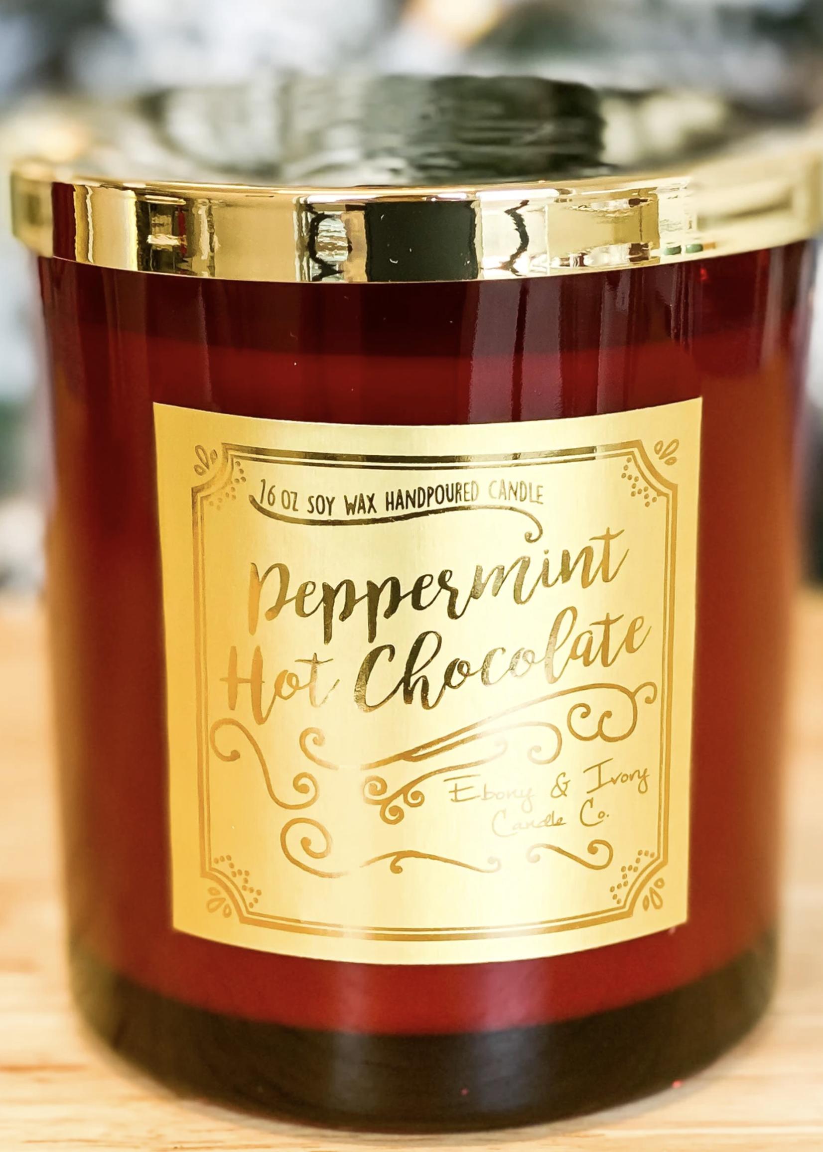 Ebony & Ivory Candle Co. Peppermint Hot Chocolate Candle 16oz