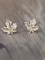 Glee Jewelry Gold Maple Leaf stud earring