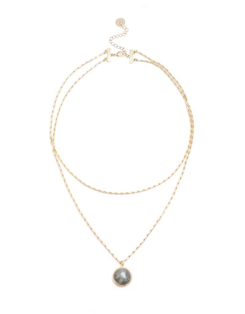 Aura Double Necklace Mint