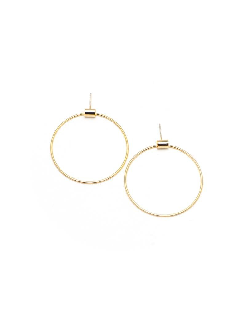 Large Swing Hoops Gold
