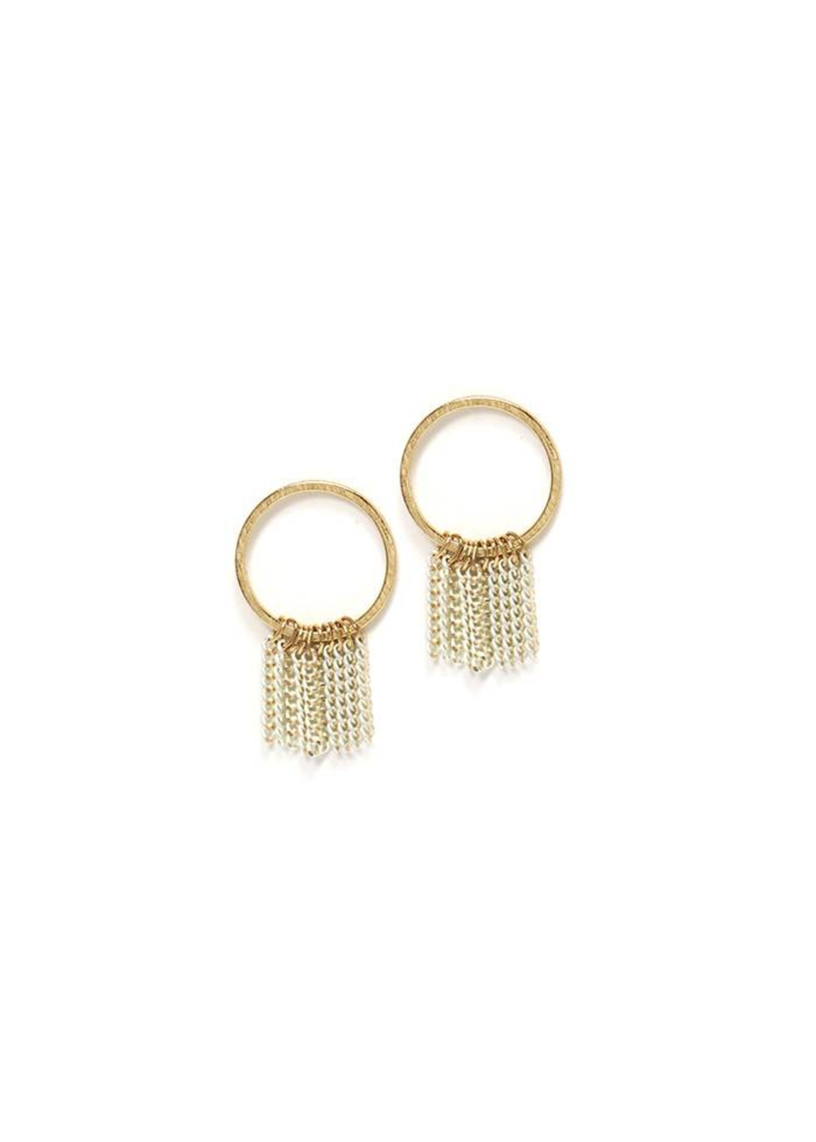 Olympia Fringe Earring -Grey
