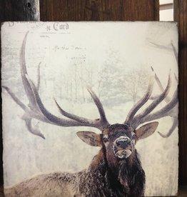 Snowy Elk Art Block