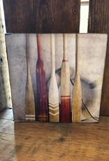 Vintage Oars Art Block