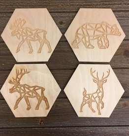 Wild Wolves Animal Coaster (set of 4)
