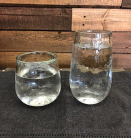 Recycled Textured Beverage Glass