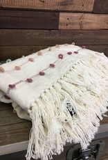 Embroidery Loop Cotton Throw