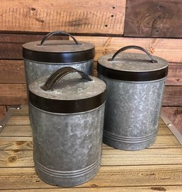 Galvanized Canisters