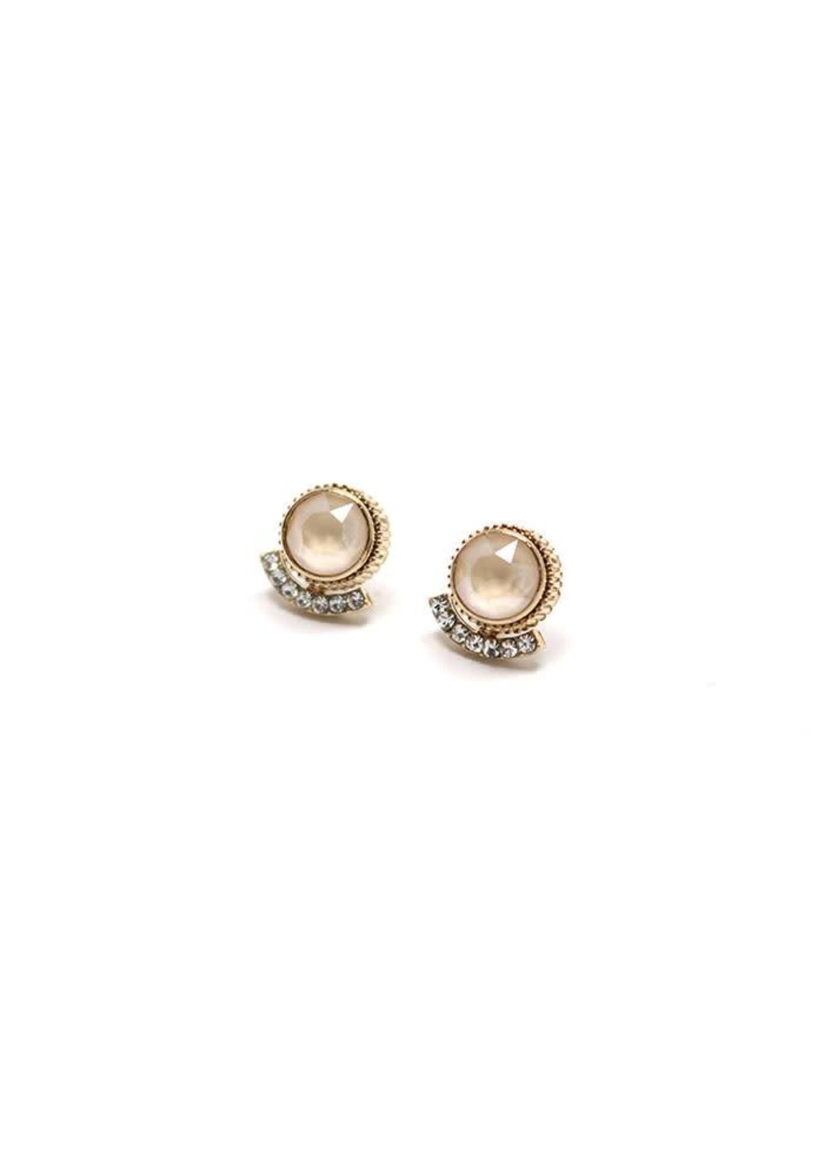 Mimosa Post Earrings Champagne