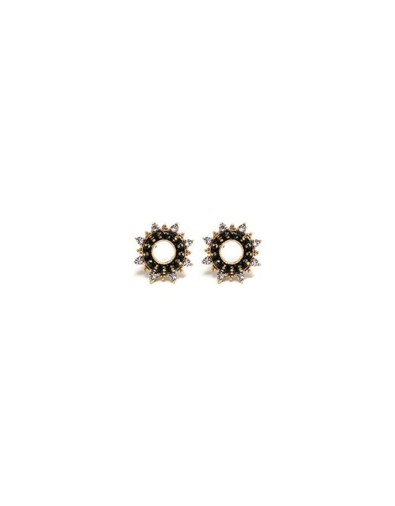 Starboard Post Earrings Black