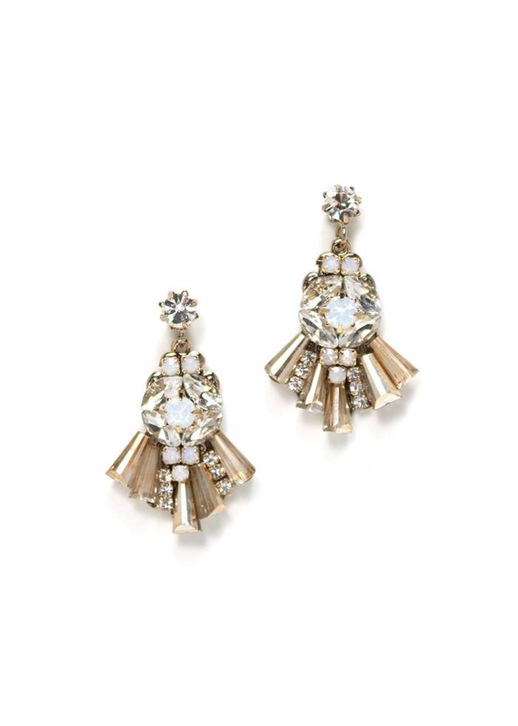 Rococo Drop Earrings- Champagne