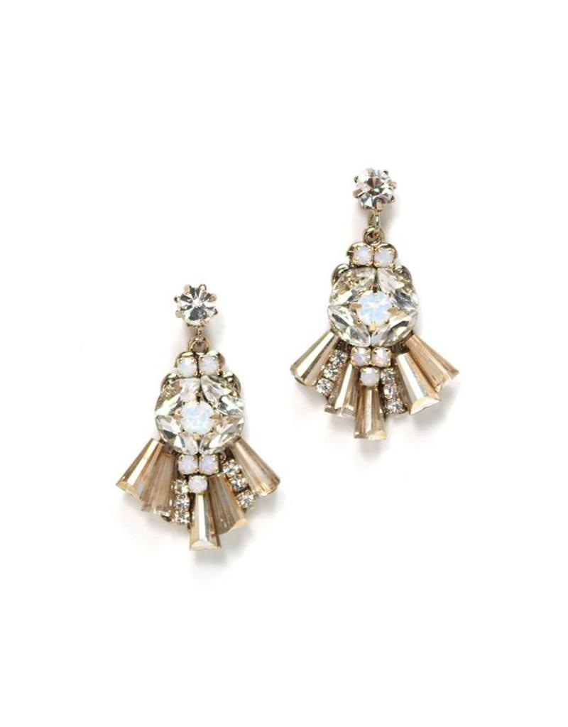 Rococo Drop Earrings- Champagne