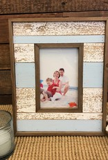Blue/White Distressed Frame 5x7