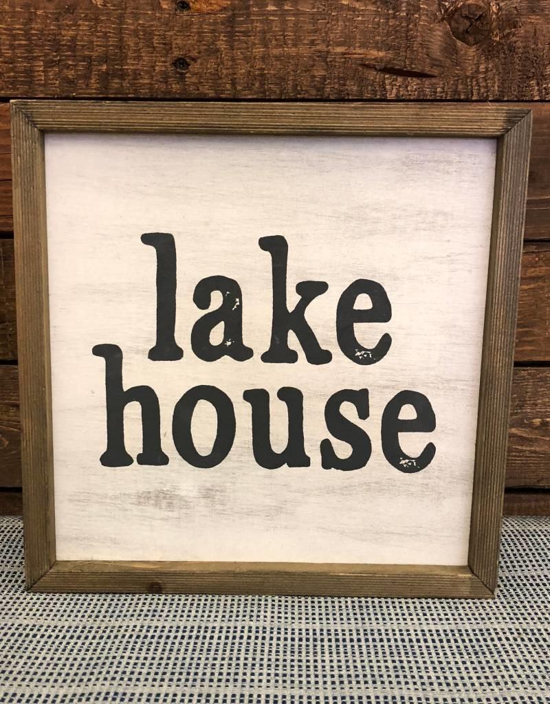 Lakehouse barn box sign