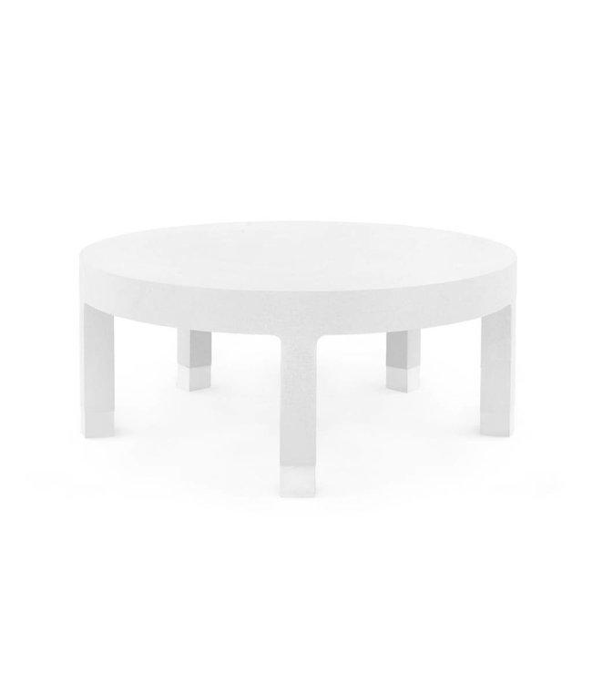 Dakota Large Round Coffee Table White