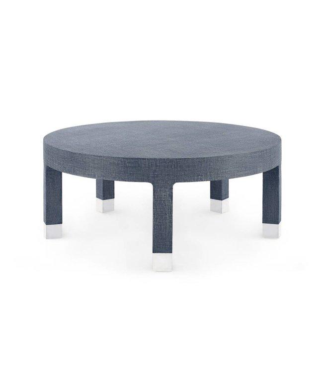 Dakota Large Round Coffee Table Blue- Online