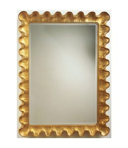 Wave Moderne Mirror Gold