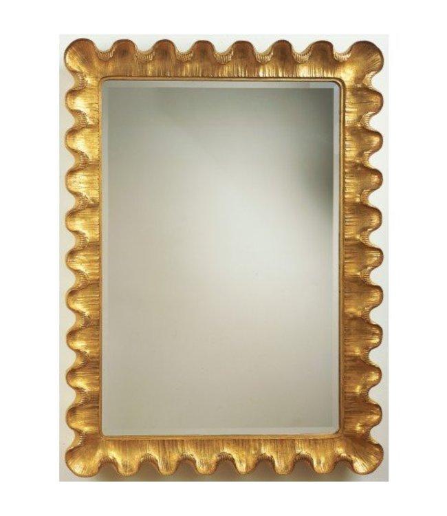 Wave Moderne Mirror Gold