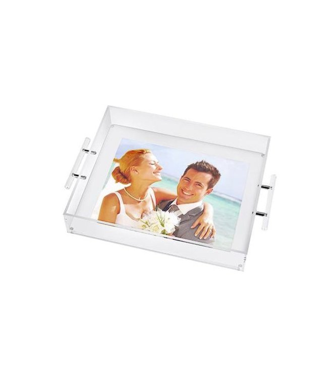 Clear Tray With Handles=