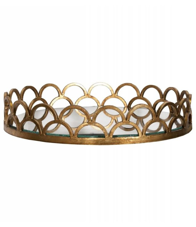 Evelyn Gold Leaf Tray