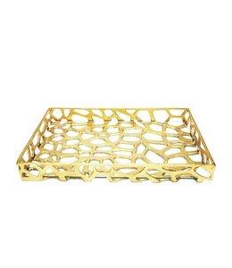Byron Gold Leaf Tray
