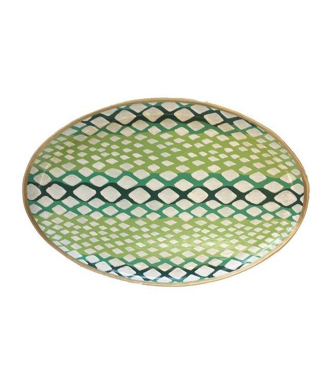Python Platter in Green