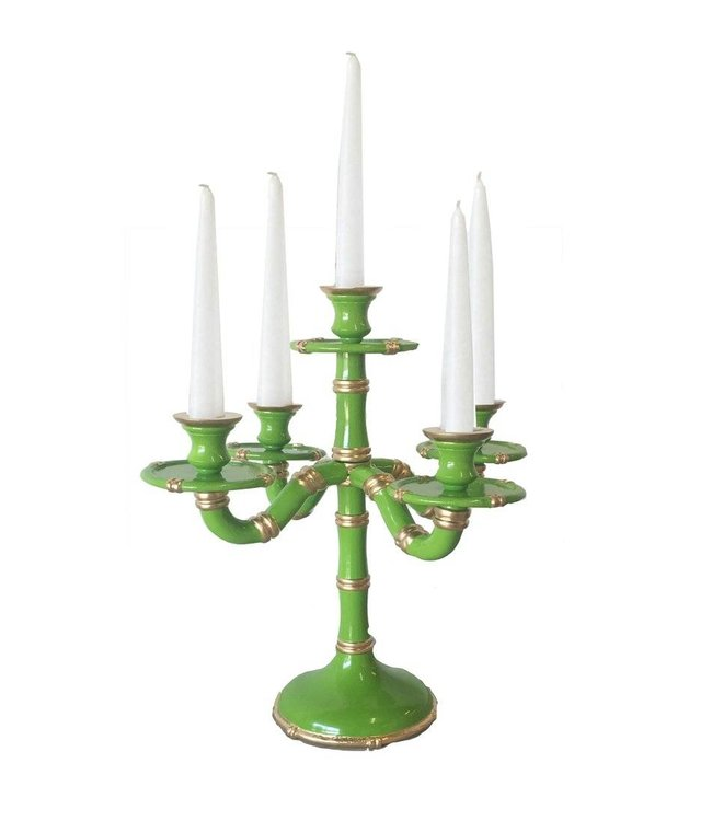 Bamboo Candelabra in Green
