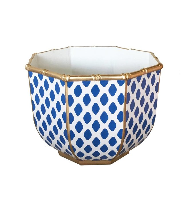 Large Bamboo Bowl in Parsi Navy