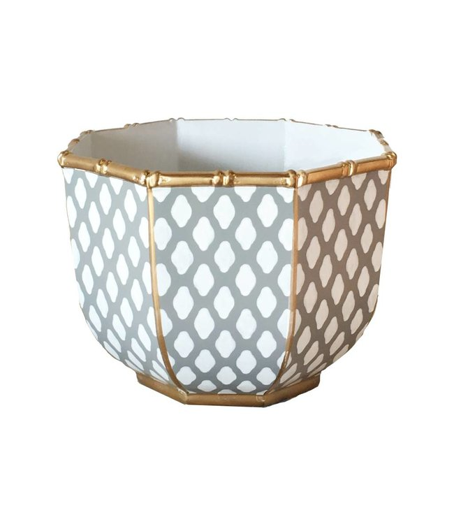 Large Bamboo Bowl in Grey