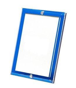 Sea Glass Blue Beveled Acrylic Frame