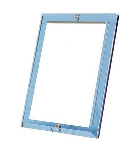 Sapphire Blue Beveled Acrylic Frame