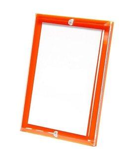 Hermes Orange Beveled Acrylic Frame
