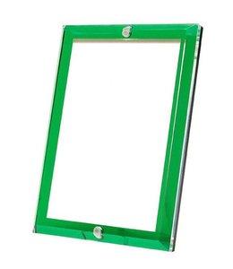 Emerald Green Beveled Acrylic Frame