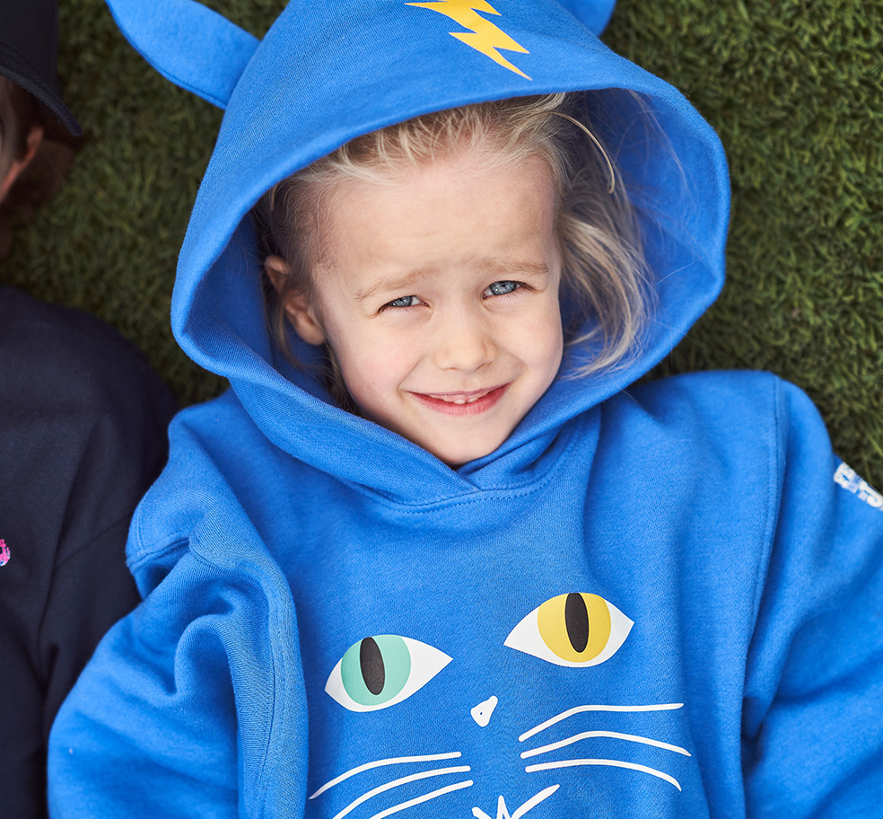 FIJM BLUE CAT KID SWEATER