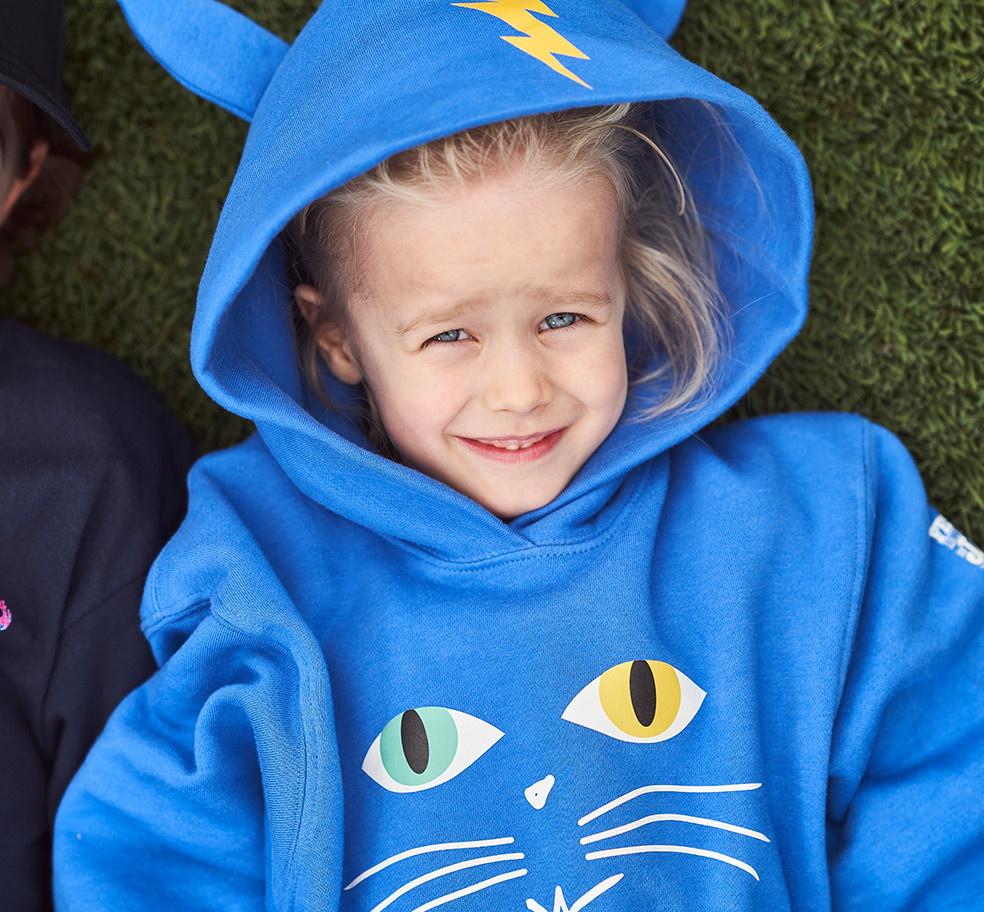 FIJM BLUE CAT KID SWEATER