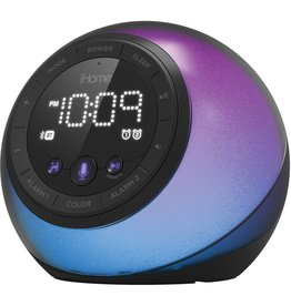 iHome iHome | Bluetooth Color Speaker USB Charge Voice Control Black | 115-1725