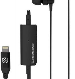 Scosche Scosche | Lightning Earbuds with Remote and Mic - Black | SC-HPL1