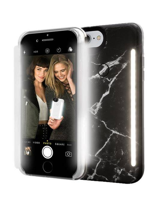 LuMee LuMee | iPhone 8/7/6/6s+ Duo Illuminating Case Black Marble | LM-LD-IP8P-BMR