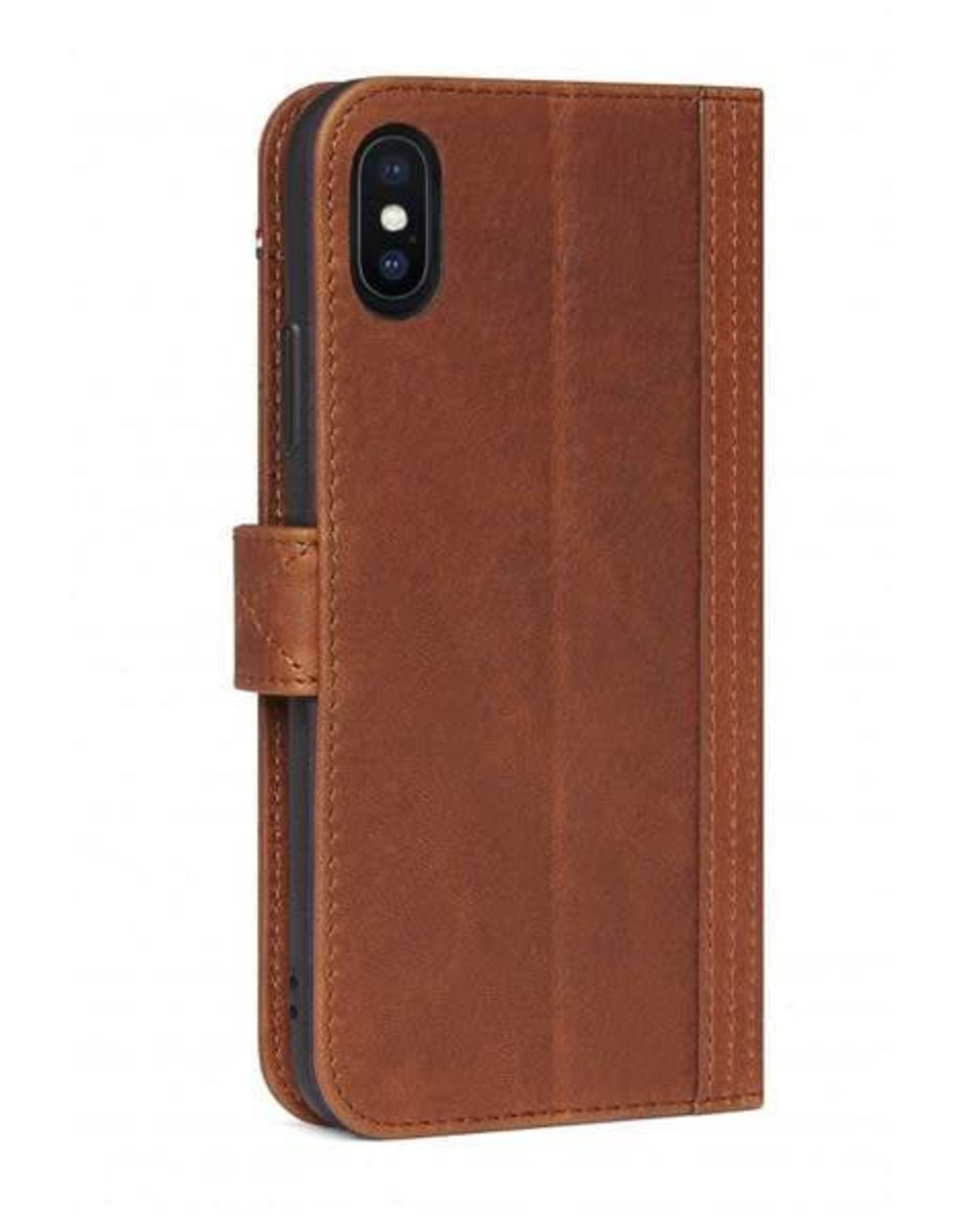 Decoded | iPhone X/Xs Leather Wallet Case Cinnamon Brown | DC-D7IPOXWC5CBN