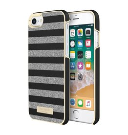 /// Kate Spade New York | iPhone X/Xs Wrap Case Glitter Stripe Black/Silver | KSIPH-081-BSSG-FR