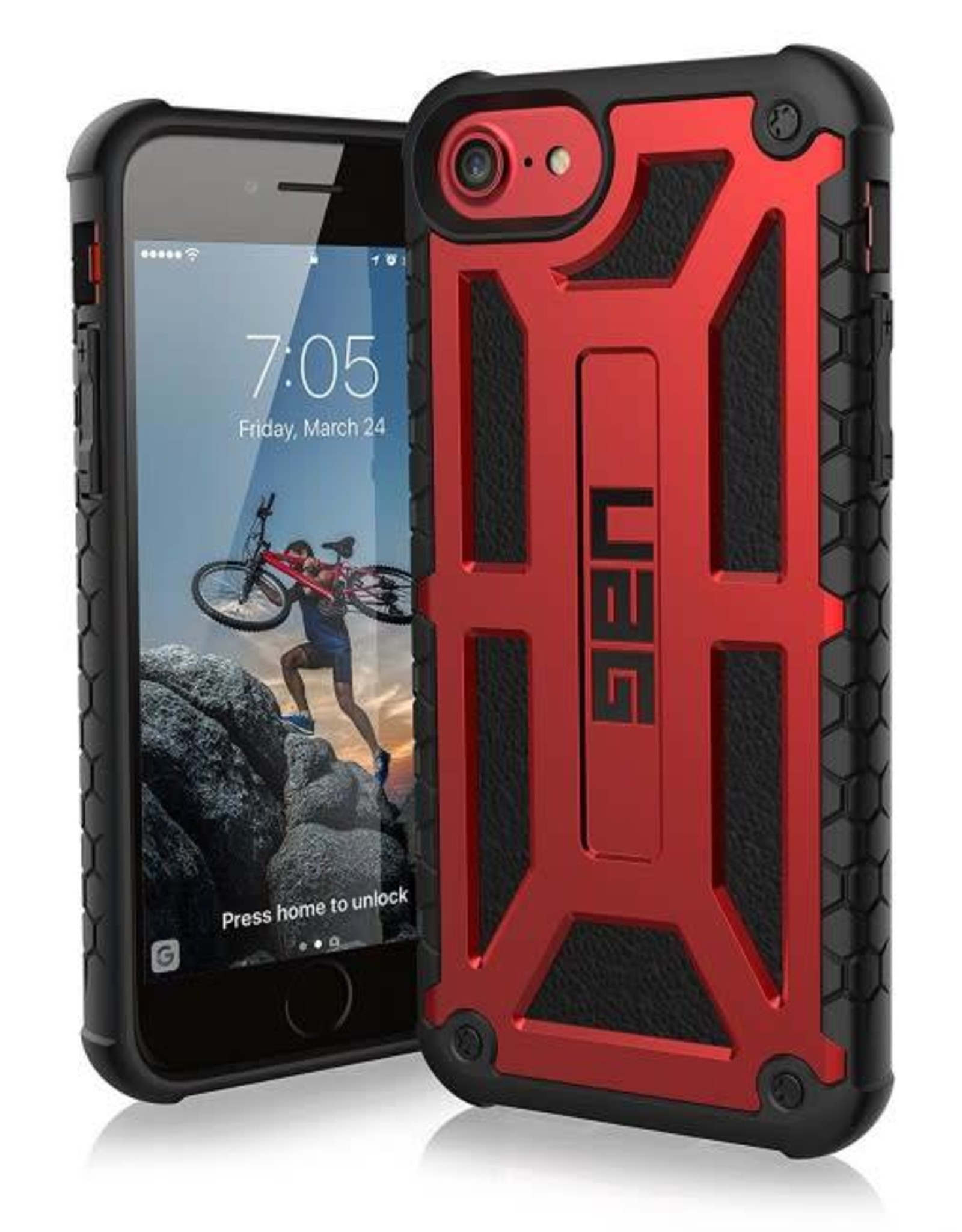 UAG /// UAG | iPhone 8/7/6S/6 Red/Black (Crimson) Monarch Series case | 15-02123
