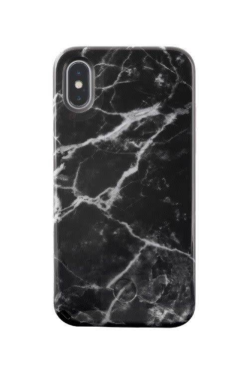 LuMee LuMee | iPhone X/Xs Selfie Black Marble | LM-LS-IPX-BMR