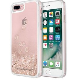 Rebecca Minkoff | iPhone 8/7/6/6s+ Pink Glitter-fall Peace Sign Hard-case | rmiph-022pcs