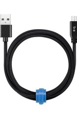 Blu Element Blu Element   Braided Charge/Sync Micro USB 4ft Black   107-1410