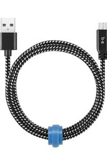 Blu Element Blu Element | Braided Charge/Sync Micro USB 4ft Zebra | 107-1412