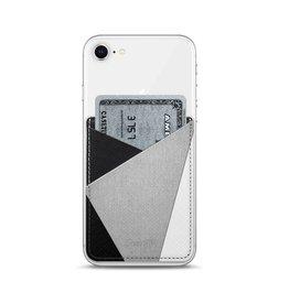 Casetify Casetify | Saffiano Leather Pocket Black White Grey | 115-1797