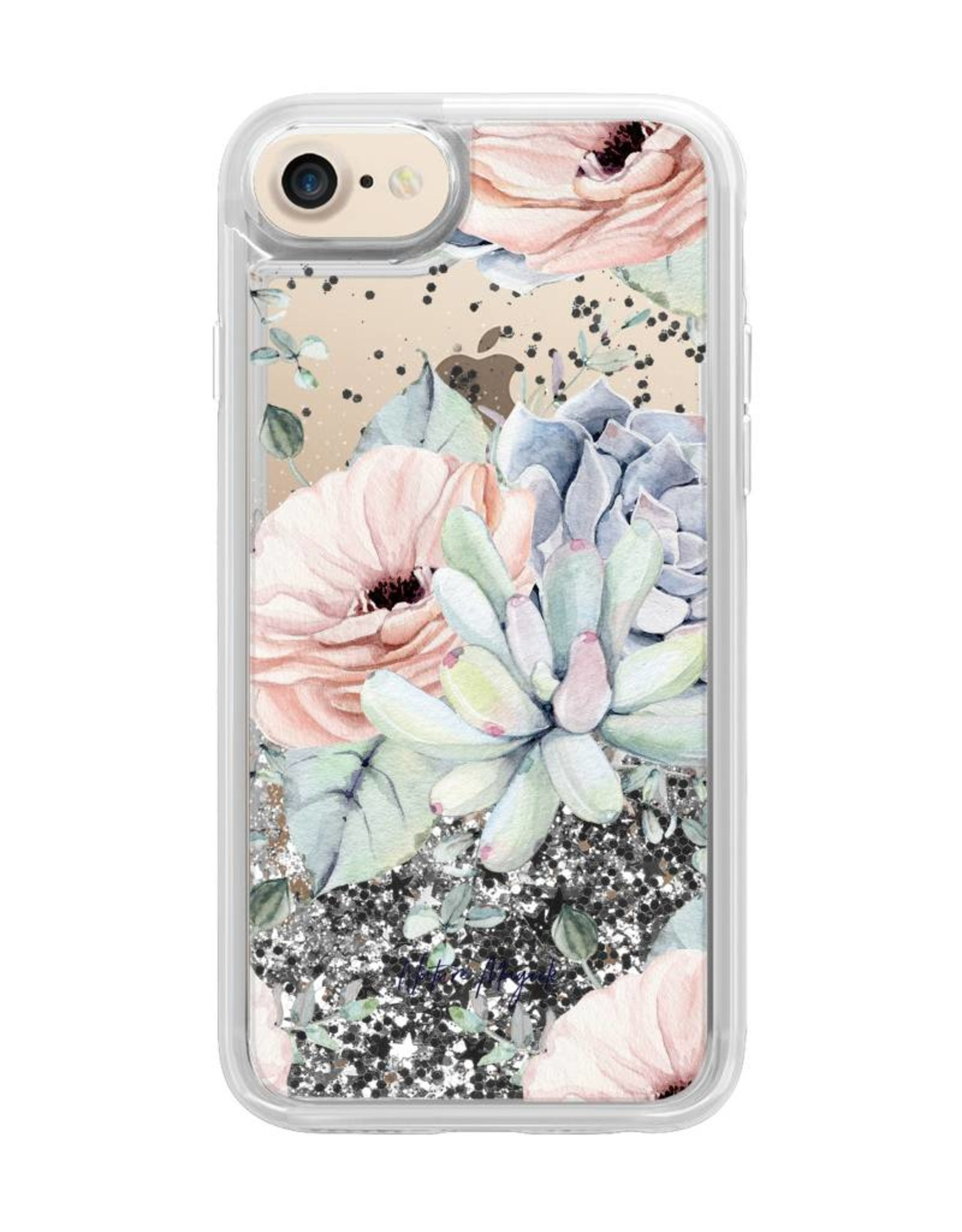 Casetify /// Casetify | iPhone 8/7/6/6s Glitter Case Pretty Succulents | 120-1214