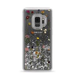 Casetify Casetify | Samsung Galaxy S9 Glitter Case Floral (Silver) | 120-0962